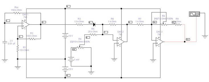 Генератор прямоугольных импульсов напряжения с постоянной  Схема генератора прямоугольных импульсов с постоянной составляющей
